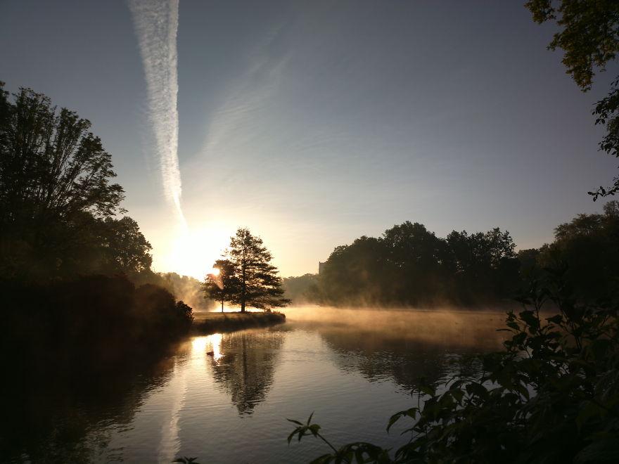 Misty Morning In Groningen/netherlands