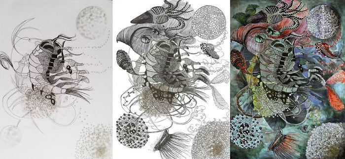 Illustration, Drawing, Poster.