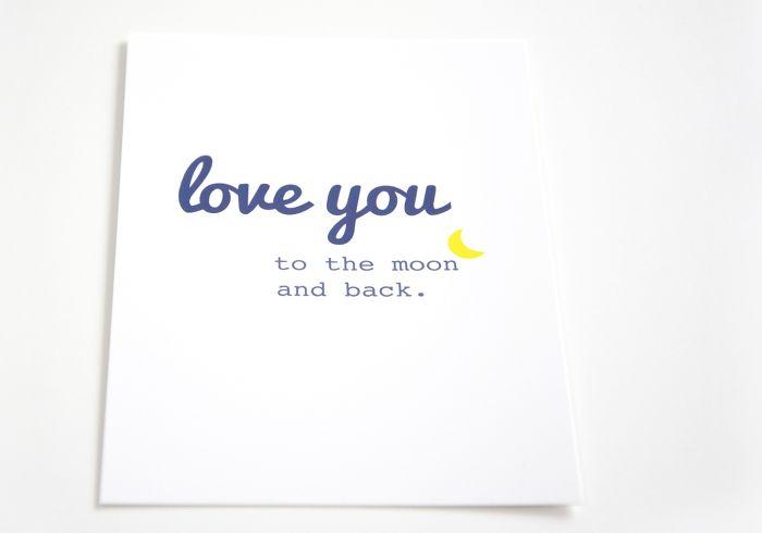 "Postcard ""love You.."" - Blue"