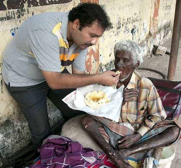 Krishnan Was An Award-winning Chef, He Quit His Job To Serve Homeless And Mentally Disabled.