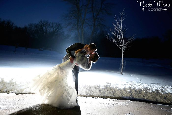 """fire And Ice"" Wedding Kiss"