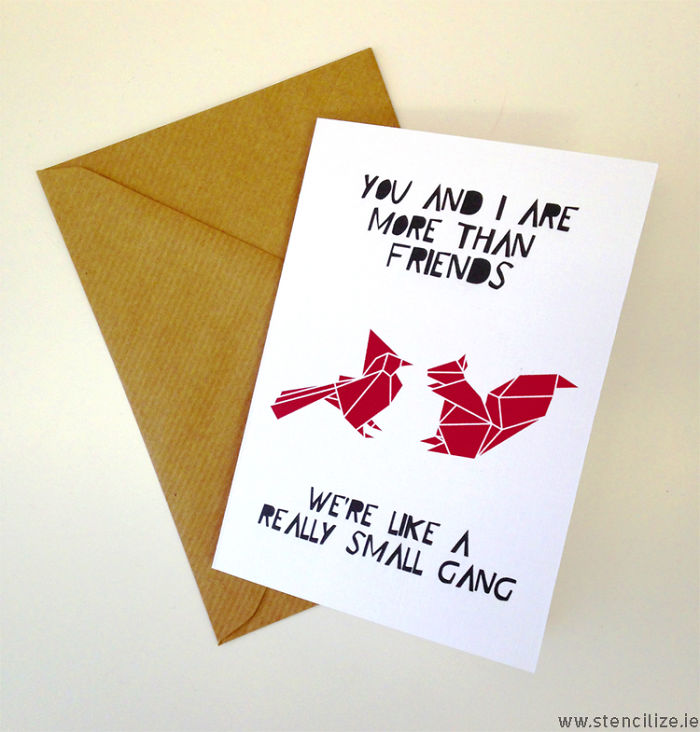 Cute Best Friends Valentines Card,you And I Are More Than Friends, We' Like A Really Small Gang