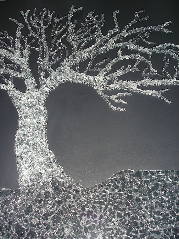This Tree Is Made With Safety Glass Every Piece Of Glass Was Individually Glued ….
