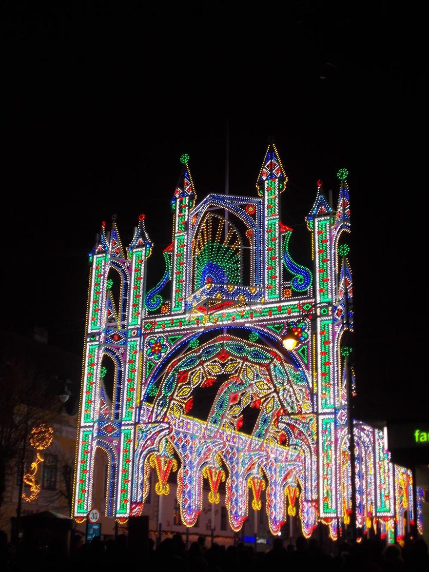 Sibiu Romania Sibiu Lights And More Festival Bored