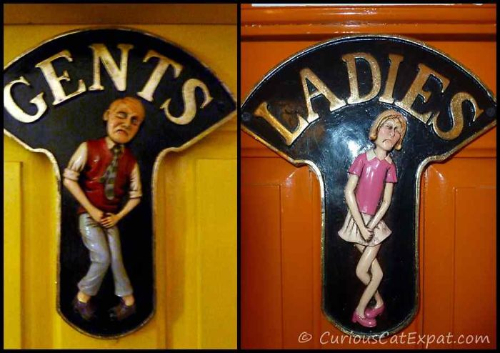 20 Funny & Unique Bathroom Signs From Around The World