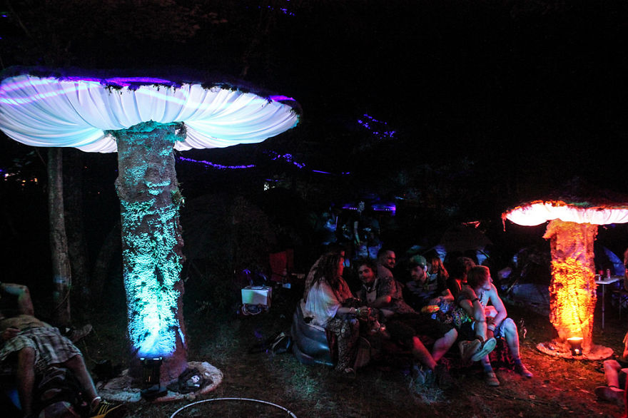 My Giant Illuminated Mushrooms Brighten Up Every Place