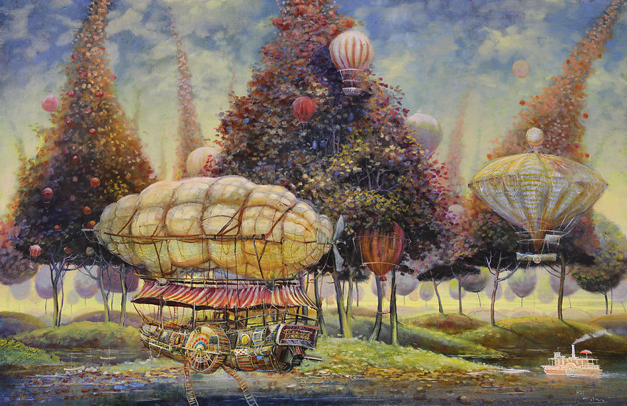Otherworldly Vehicles In Oil Paintings By Lithuanian ...