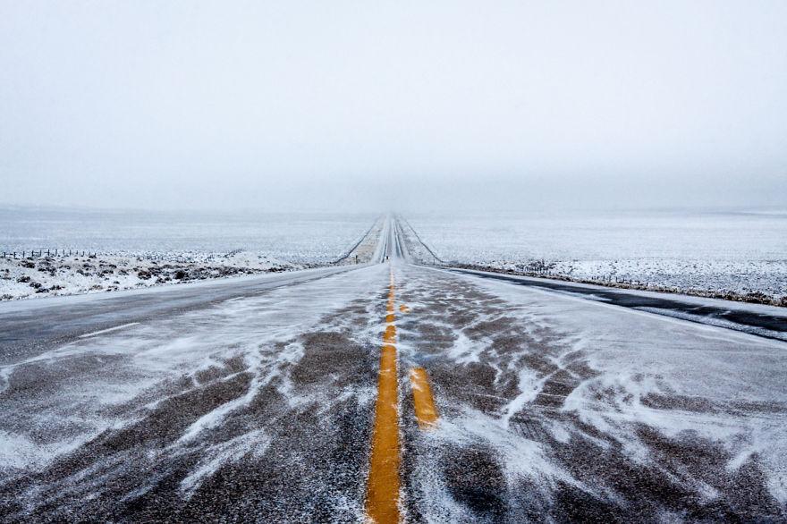 Highway 287 In Wyoming