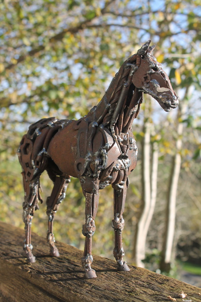 Scrap Metal Thoroughbred Horse
