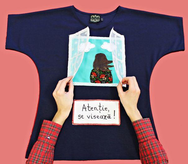 3d Poetry-shirt Made By Ioana Tanase