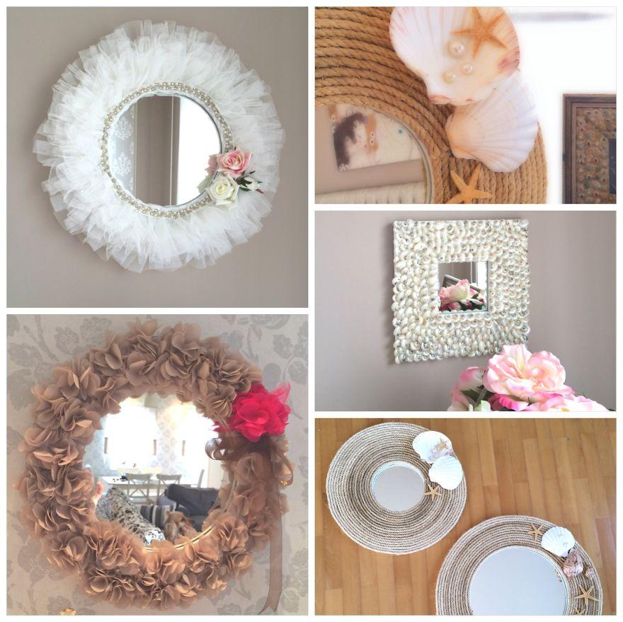 Eco reciclaje elige tu espejo y manos a la obra for Como decorar un espejo de pared