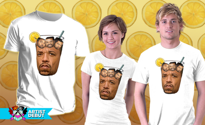 Ice-t With Ice Cubes T-shirt