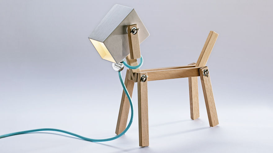 Luminose We Designed A Wooden Table Lamp That Can Flex