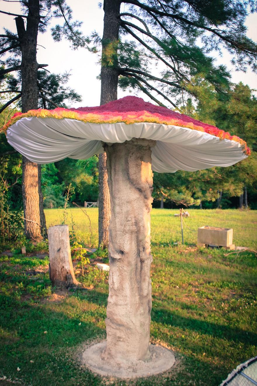 My Giant Illuminated Mushrooms Brighten Up Every Place