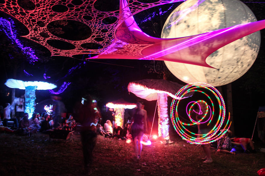 My Giant Illuminated Mushrooms Brighten Up Every Place They Go