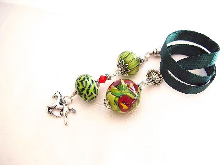 Handmade Bookmark From Handmade Lampwork Beads