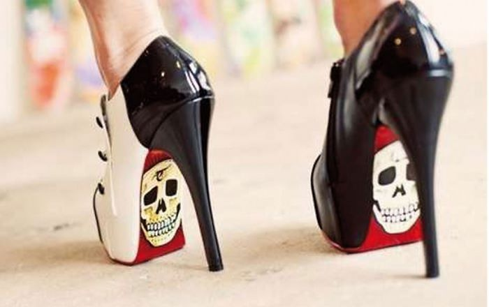 Geeky Skull Shoes