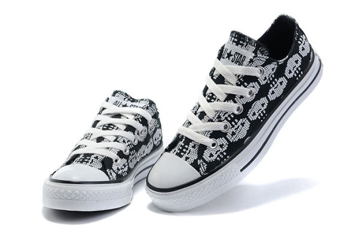 Converse All Star Fashion In Black Skeleton Love