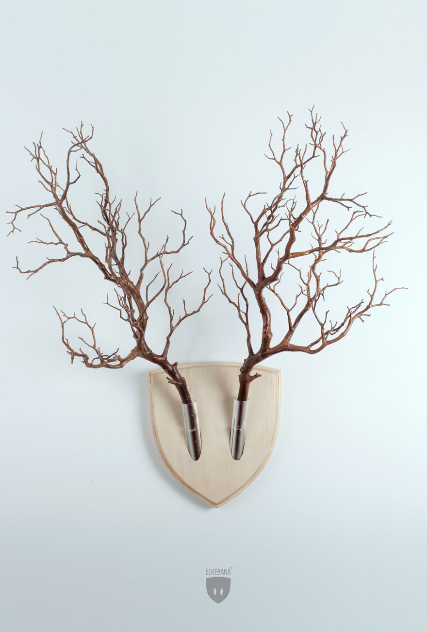 Alternatively, if you want really extra-vegan antlers on your wall...