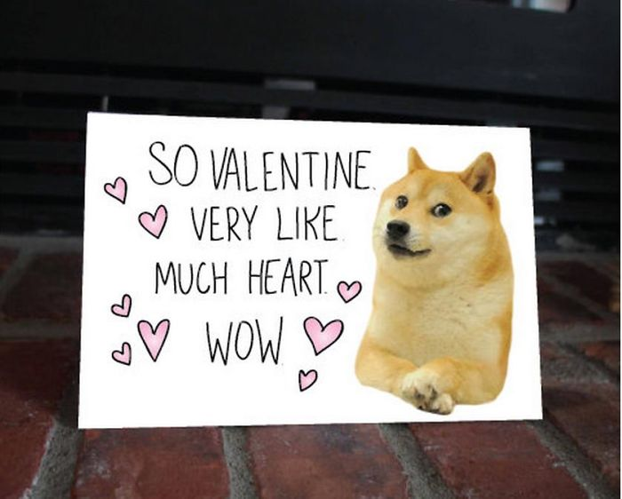 So Valentine Very Like Much Heart Wow Doge Shiba Inu Bored Panda