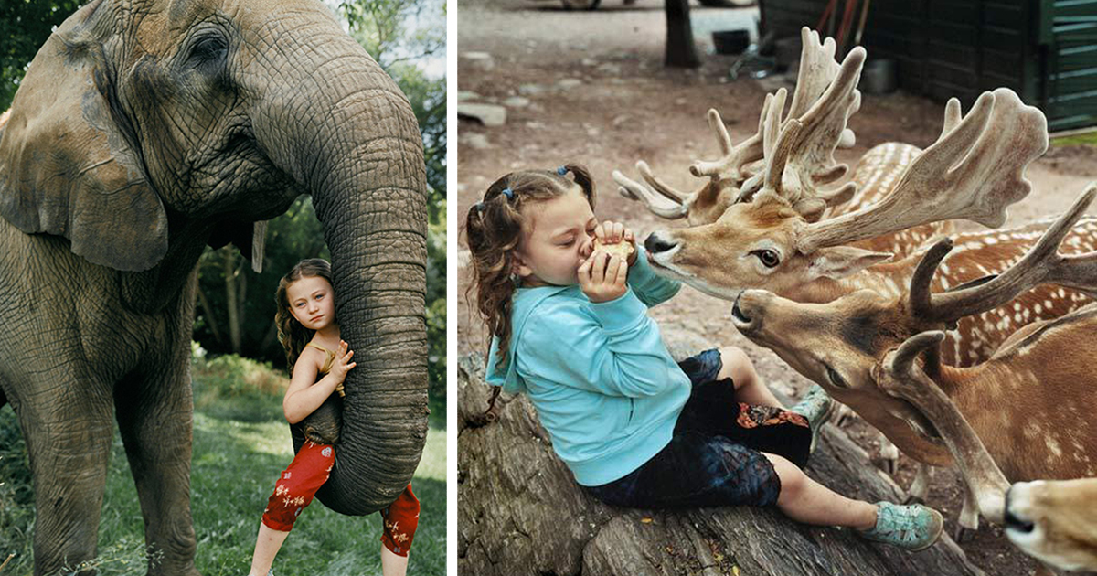 Amelia And The Animals: Photographer Mom Captures Daughter's Love For Animals