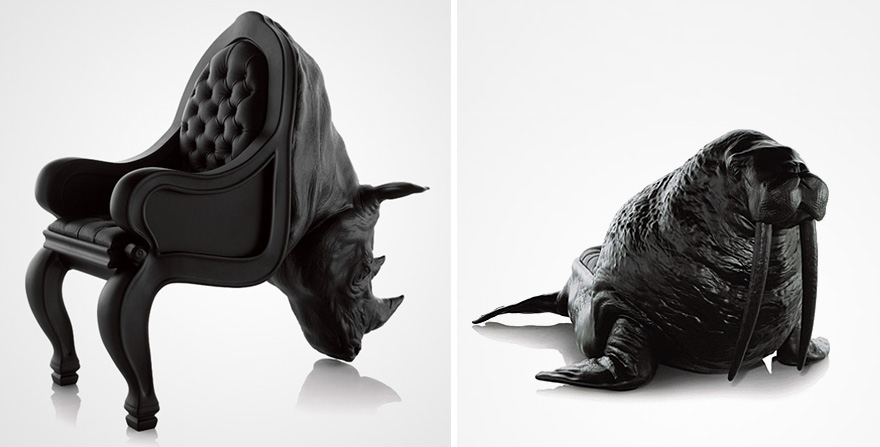 Exceptionnel Animal Chair Collection Hippo Sofa Maximo Riera 67