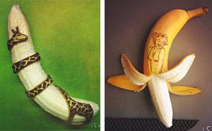Artist Transforms Bananas Into Works Of Art