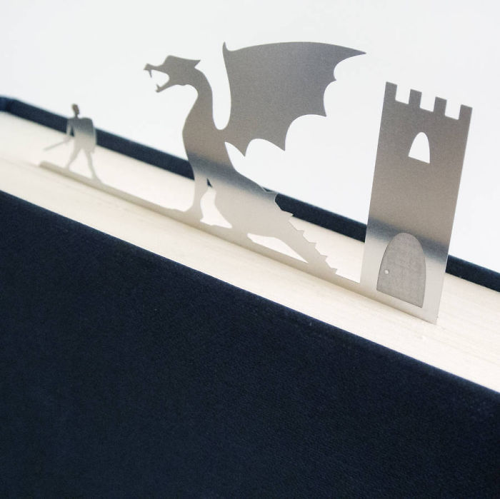 Dragon And A Knight Bookmark