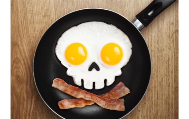 Funny Side Up Skull Egg Ring