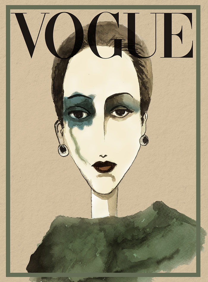 I Used Ink To Draw Vogue Cover Icons