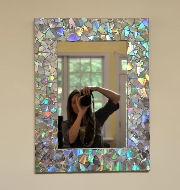 Old Cd Mirror Frame