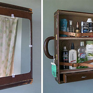 Old Suitcase Turned Into A Medicine Cabinet