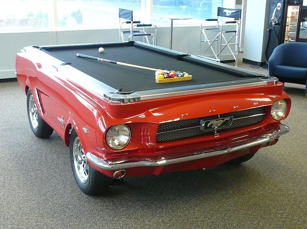 Car Turned Into Pool Table