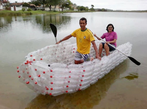 Plastic Bottles Turned Into A Boat