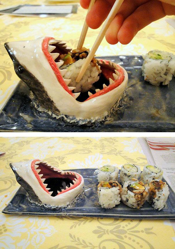 23 shark sushi plate - Kitchen Gadget Gift Ideas