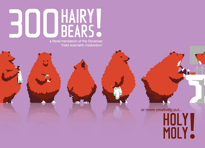 300 Hairy Bears Help Launch Creative Translation Agency