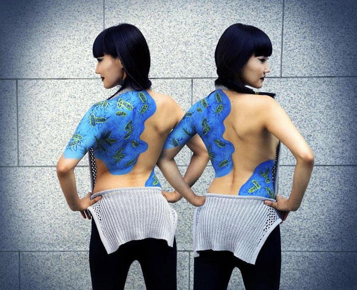 Deadly Viruses Painted On Human Body Raise Awareness Of Neglected Diseases