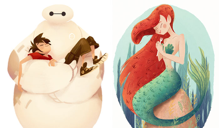 I Created Disney Illustrations Based On Each Of Their Movies