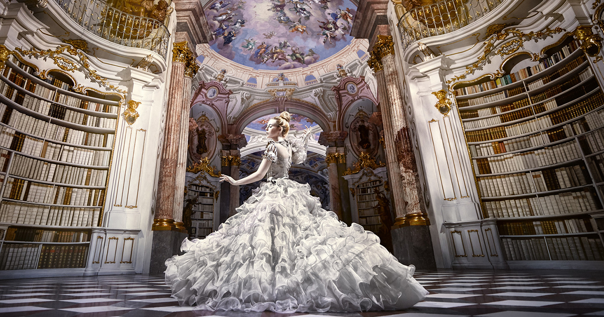I Did A Photoshoot In A Real-Life Disney Library – Admont Abbey