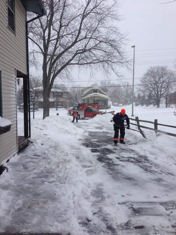 An Elderly Man Had A Heart Attack While Shoveling His Driveway. Paramedics Took Him To The Hospital, Then Returned To Finish Shoveling His Driveway For Him
