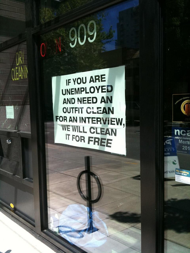 Free Dryclean For Jobless People