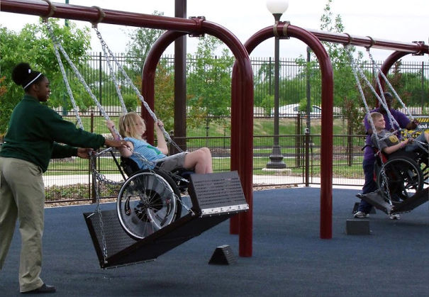 People Built Swings For Children In Wheelchairs