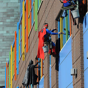 Workers From Memphis Cleaning Company Dress Up As Superheroes To Cheer Up Patients At Children's Hospital In Le Bonheur