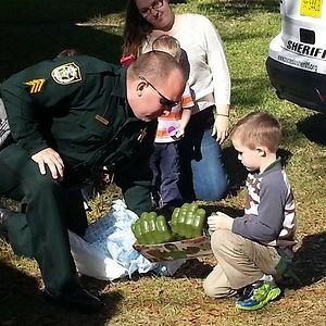 No Classmates Showed Up For This Little Autistic Boy's Birthday. His Mom Asked For Help On Facebook And These Amazing Firefighters, Officers And Local Kids Came