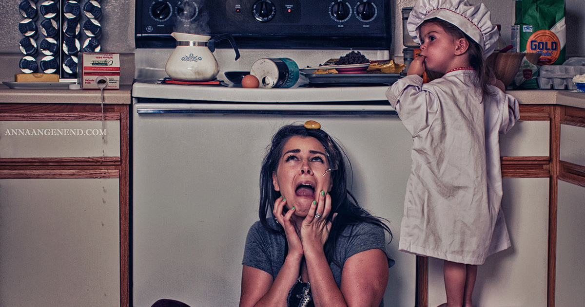 Funny Photo Series Shows Chaotic Life Of A Stay-At-Home Mother