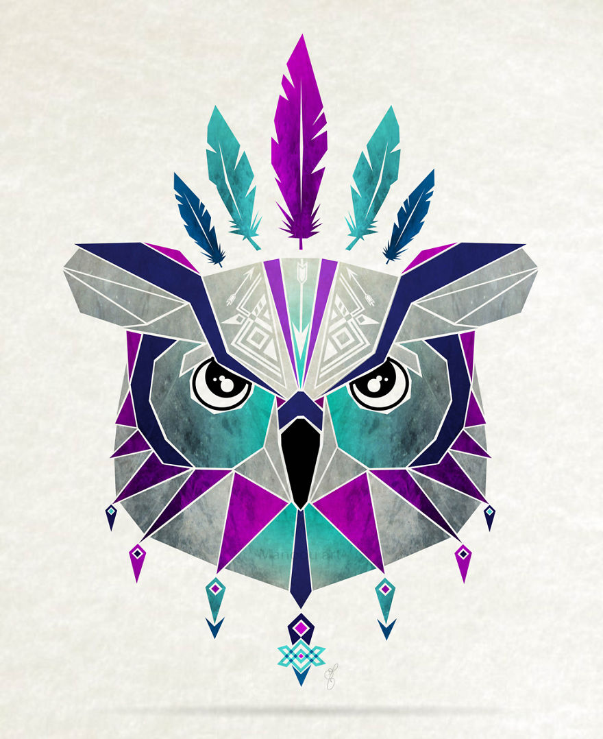 Inspired By Tangram, I Started Creating Geometric Illustrations Of Animals