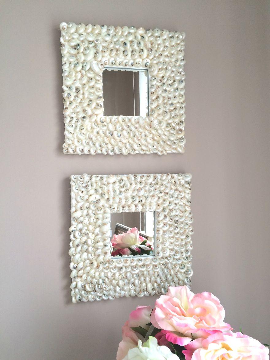 Eco reciclaje elige tu espejo y manos a la obra - Como decorar un espejo ...
