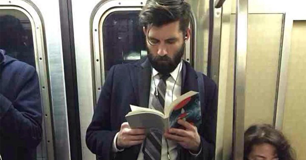 Image result for reading on the train