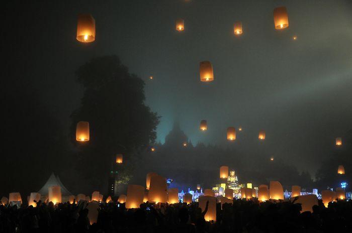 Borobudur Vesak Lampion Festival, Central Java, Indonesia