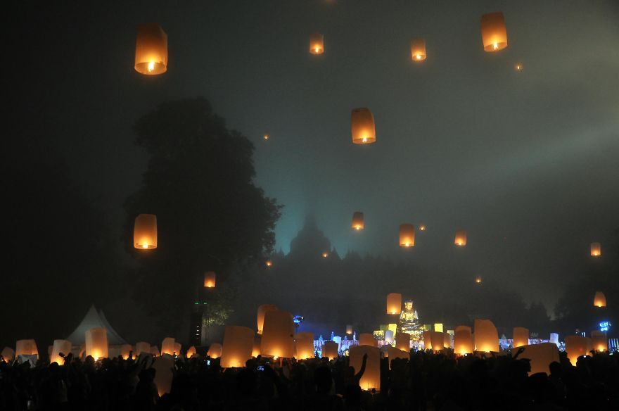 Borobudur Vesak Lampion Festival, Central Java, Indonesia